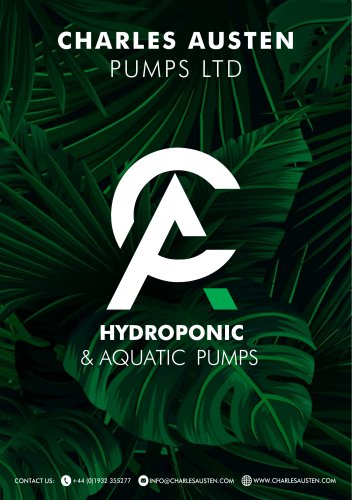 Hydroponic & Aquatic Pumps Brochure 2019