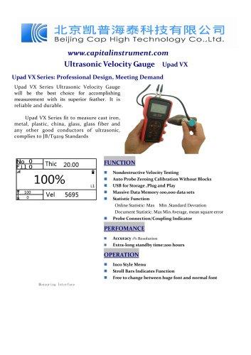 Ultrasonic Velocity Gauge Upad VX