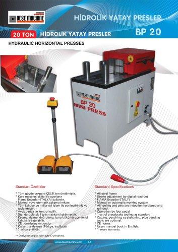 HYDRAULIC HORIZONTAL PRESS