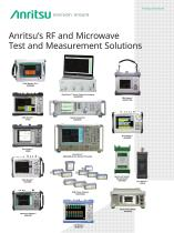 Anritsu's RF and MicrowaveTest and Measurement Solutions