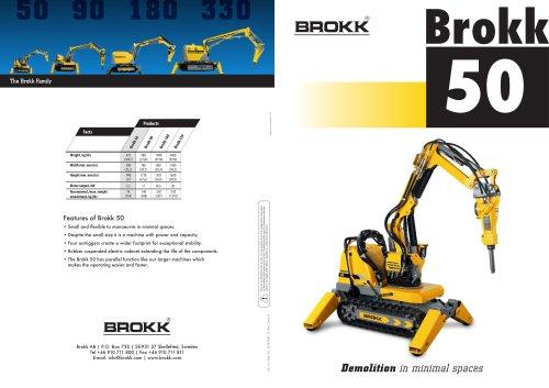 Brochure Brokk 50, GB