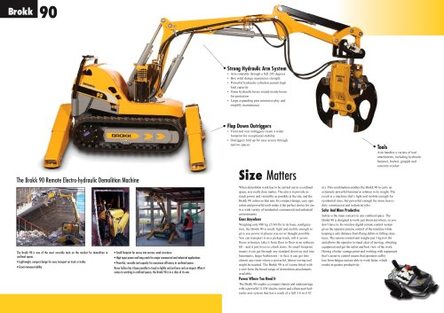 Brochure Brokk 90, GB