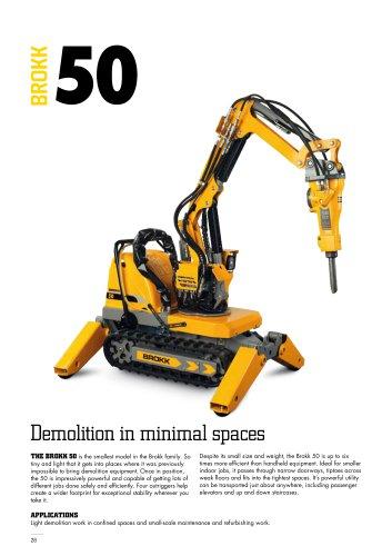 Demolition in minimal spaces