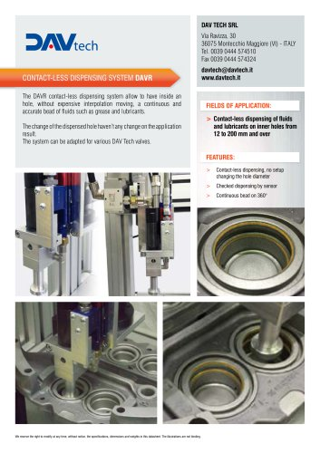 Contact-less dispensing system DAVR