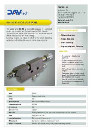 DA 400 - needle valve