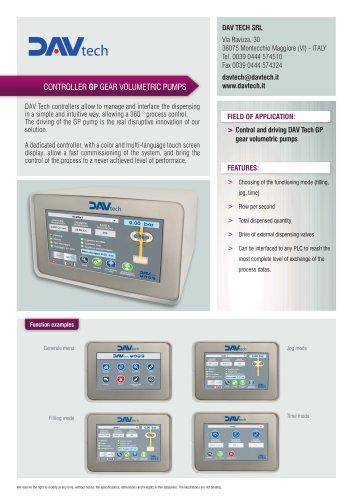 Datasheet - Controller GP gear volumetric pumps