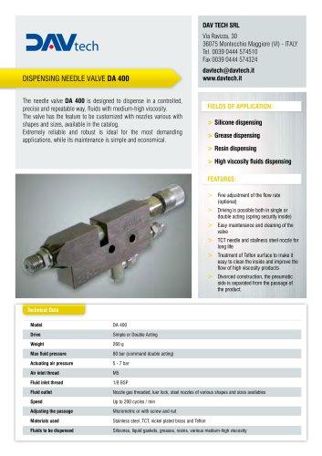 Dispensing needle valve DA 400