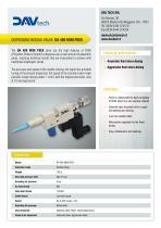 Dispensing needle valve DA 400 MINI PEEK