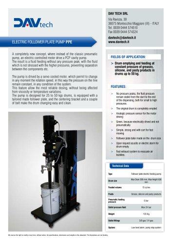 Electric follower plate pump PP-E