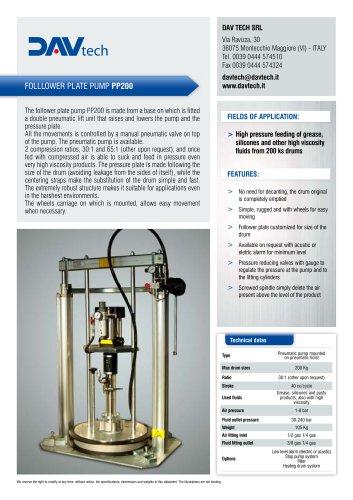 Follower plate pump PP-200