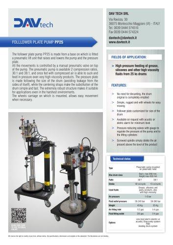 Follower plate pump PP-25