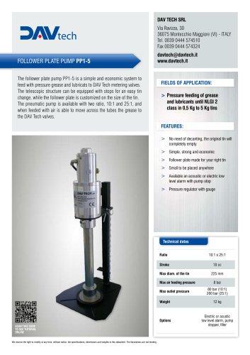 Follower plate pump PP1-5