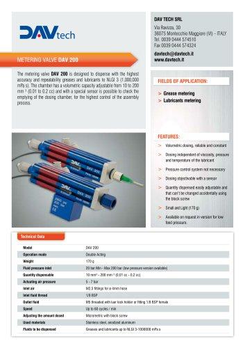 Metering valve DAV 200