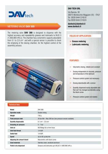Metering valve DAV 300