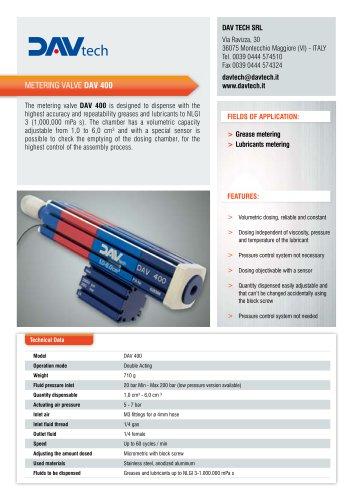 Metering valve DAV 400
