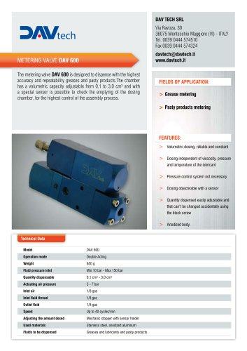 Metering valve DAV 600
