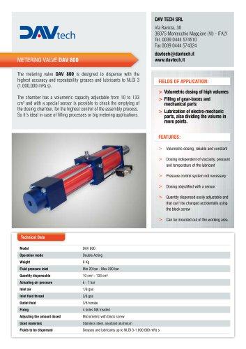 Metering valve DAV 800