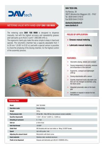 Metering valves with hand-grip DAV 100 MAN