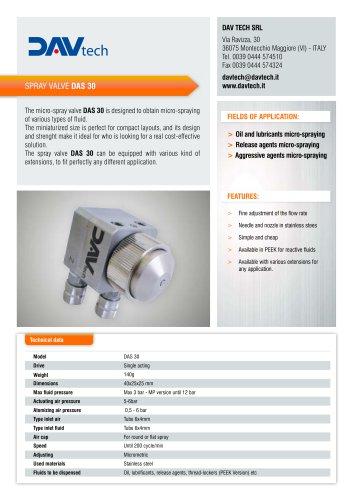 Micro spray valve DAS 30