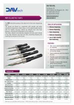 PCP volumetric pumps