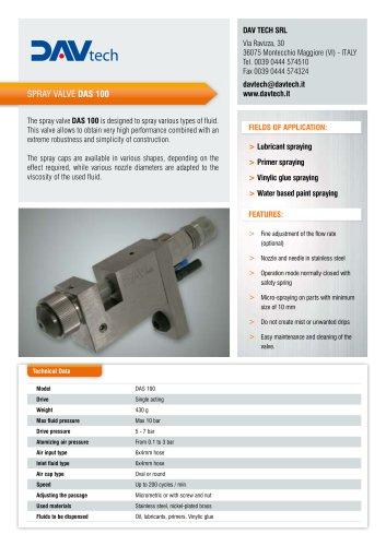 Spray valve DAS 100