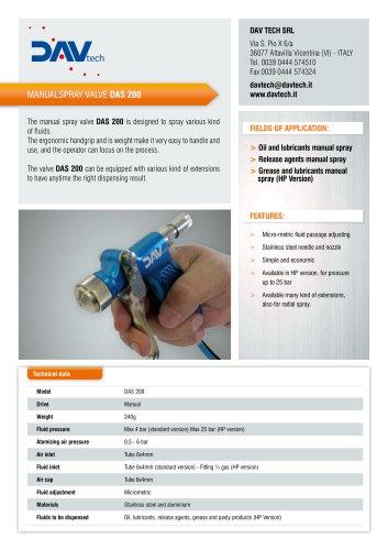 Spray valve DAS 200