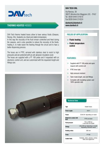 Thermo heated hoses