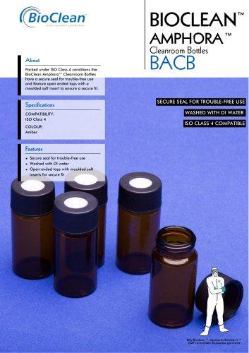 Bioclean Amphora Cleanroom Bottles