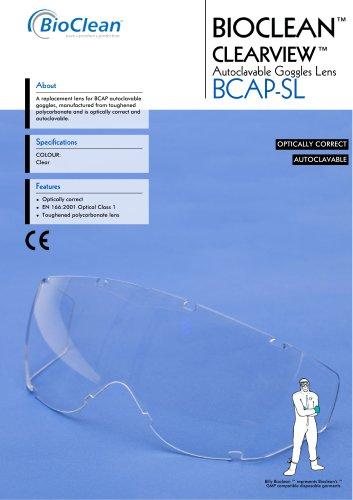 Bioclean Clearview Autoclavable Goggle Lens