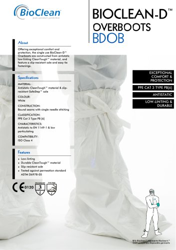 Bioclean-D Non-Sterile Overboots