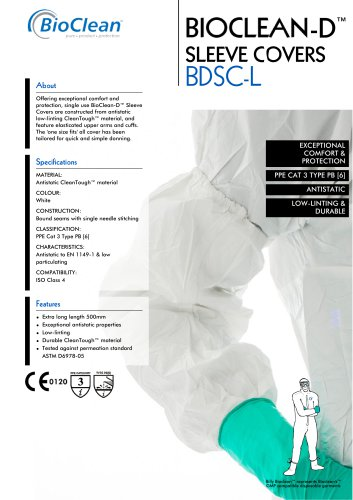 Bioclean-D Non-Sterile Sleeve Covers