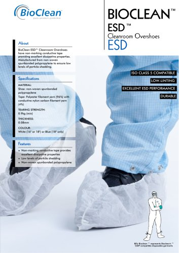 Bioclean ESD Overshoes with Condustive Tape