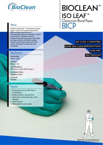 Bioclean ISOLeaf Cleanroom Bond Paper