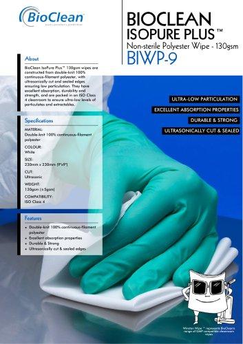 Bioclean Isopure Plus Non-Sterile Polyester Wipe