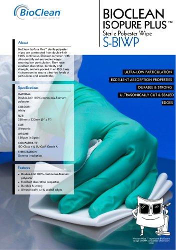 Bioclean Isopure Plus Sterile Polyester Wipe