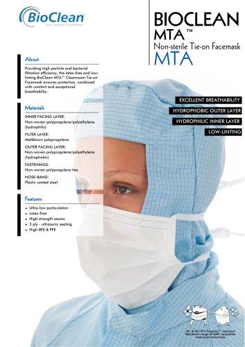 Bioclean MTA Non-Sterile Tie-On Facemask