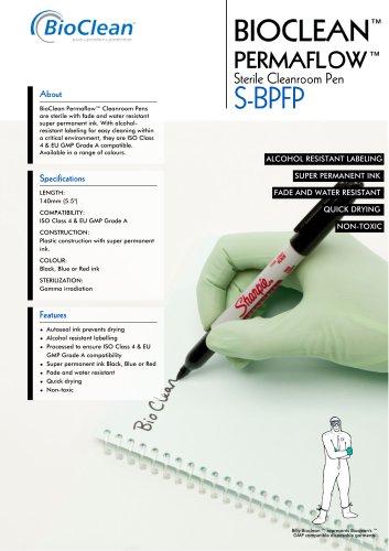 Bioclean Permaflow Sterile Clenaroom Pen