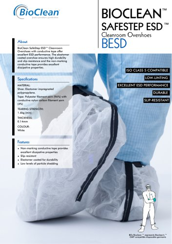 Bioclean Safestep ESD Overshoes