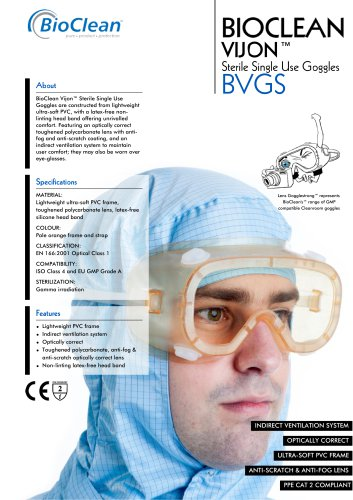 Bioclean Vijon Sterile Single Use Goggles