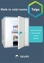 Walk-in cold rooms Taïga
