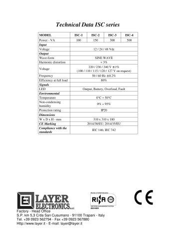 Inverters ISC series