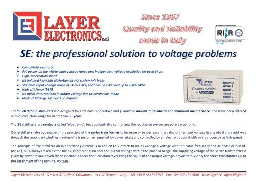 Voltage Stabilizers SE series