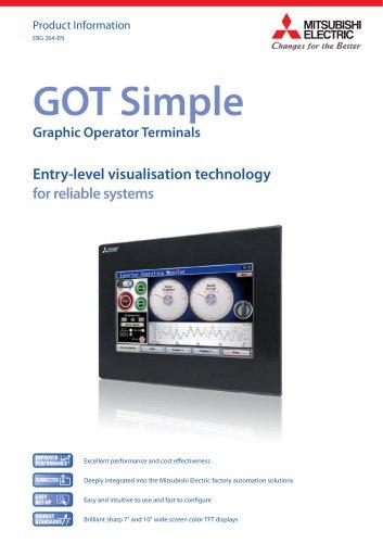 Multitouch screen HMI terminal - GOT Simple series