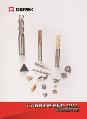 Carbide end mill and inserts