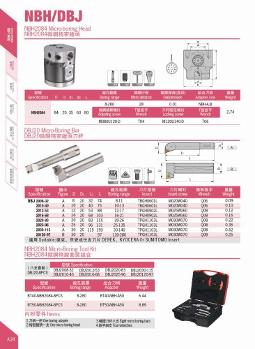 NBH2084 Boring Tool Kit | Precision 0.01 mm | Range 8 - 280 mm