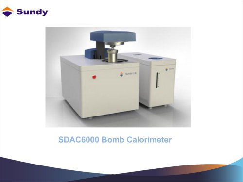 SDAC6000 Bomb Calorimeter