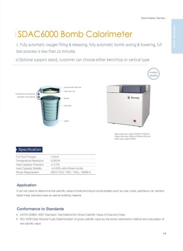 SDAC6000 full automatic bomb calorimeter