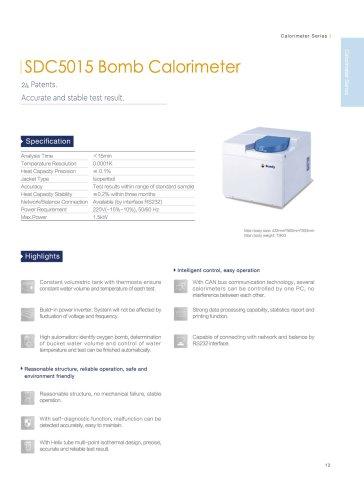 SDC5015 calorimeter