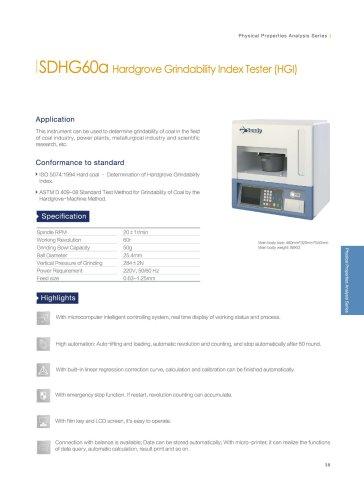 SDHG60a hardgrove grindability index tester