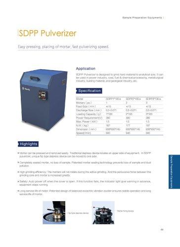 SDPP pulverizer